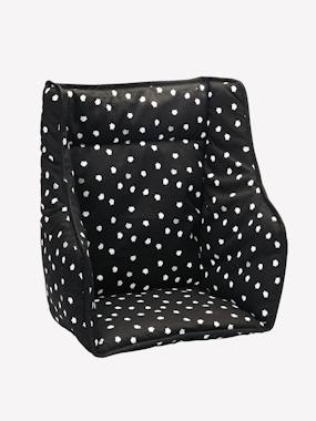 Almofada para cadeira alta VERTBAUDET preto estampado