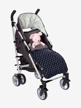 Capa para carrinho de bebé com estampado às estrelas preto estampado