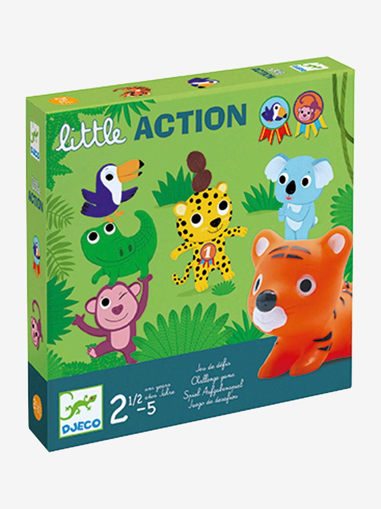 Little Action, da DJECO verde medio liso com motivo