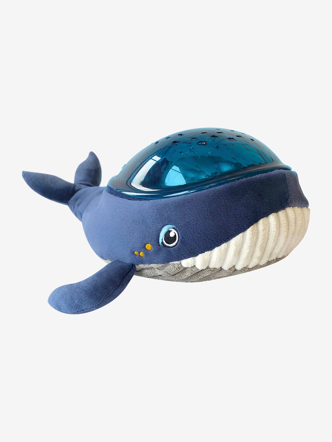 Projetor dinâmico Baleia Aquadream, da PABOBO azul escuro liso com motivo