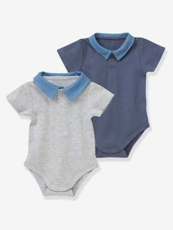Happy Week-Bebé 0-36 meses-Lote de 2 bodies, gola polo, para bebé