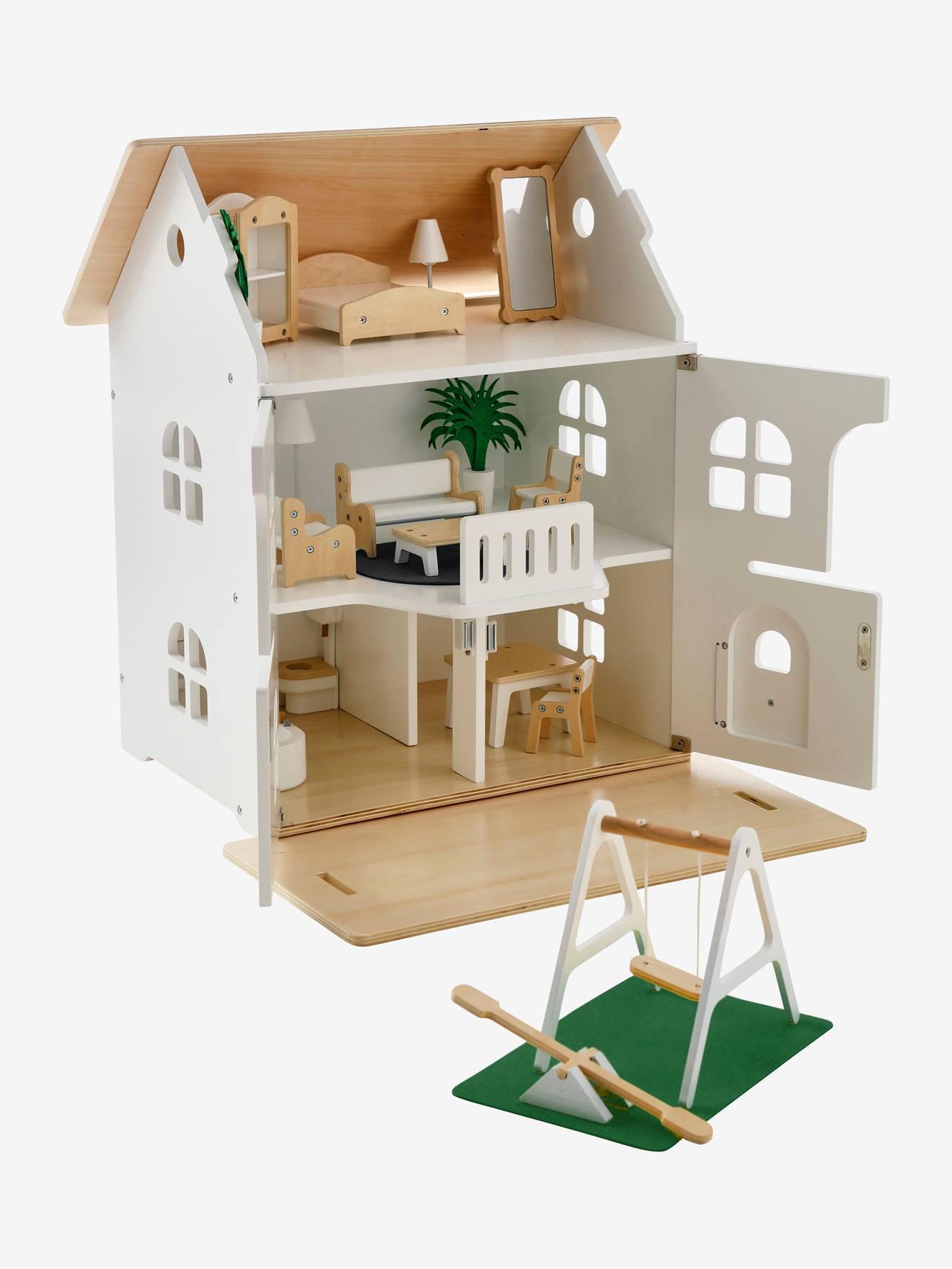 Casa dos amiguinhos + mobiliário branco medio liso com motivo