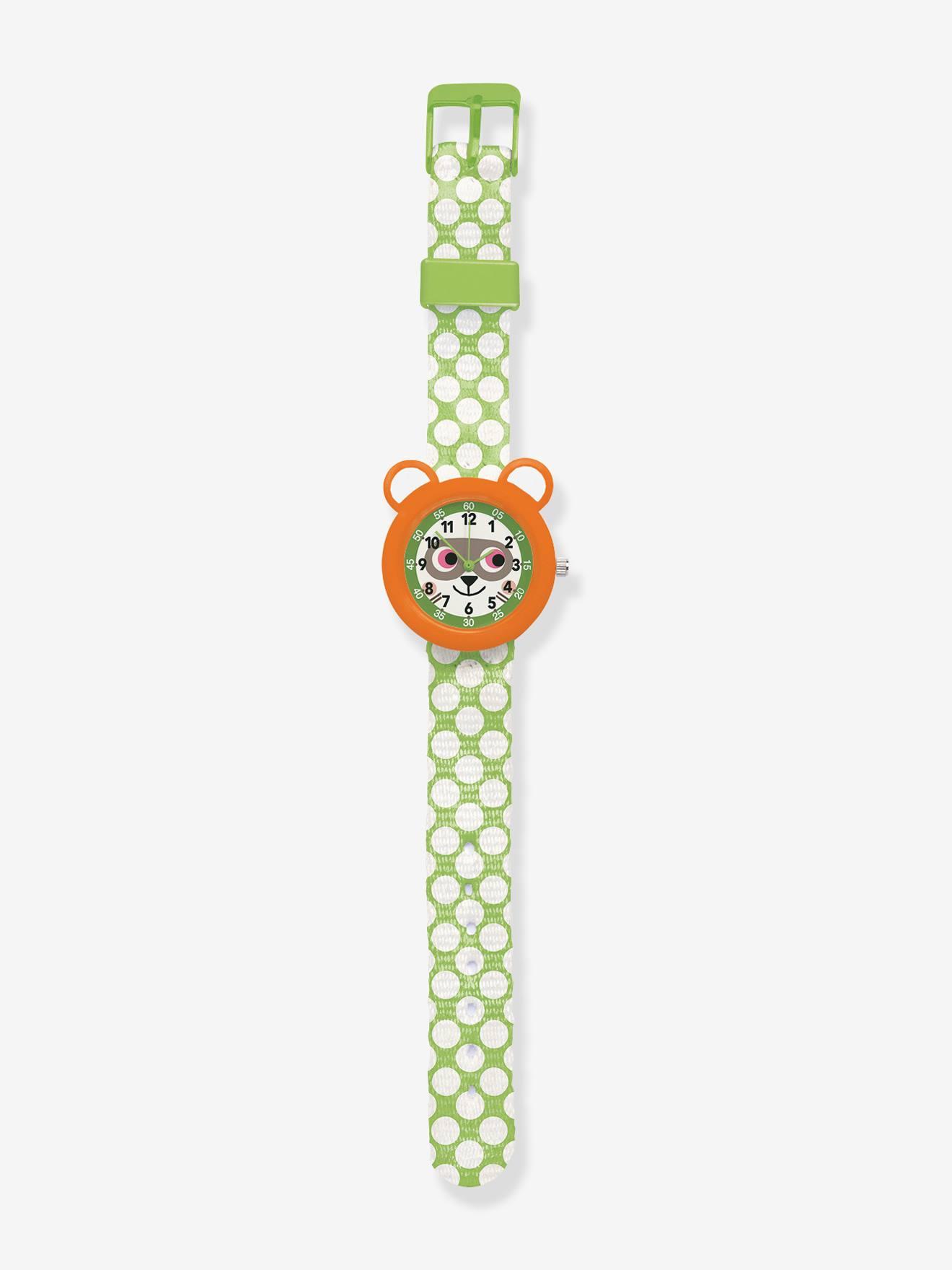 Relógio para menino, da DJECO laranja medio liso com motivo