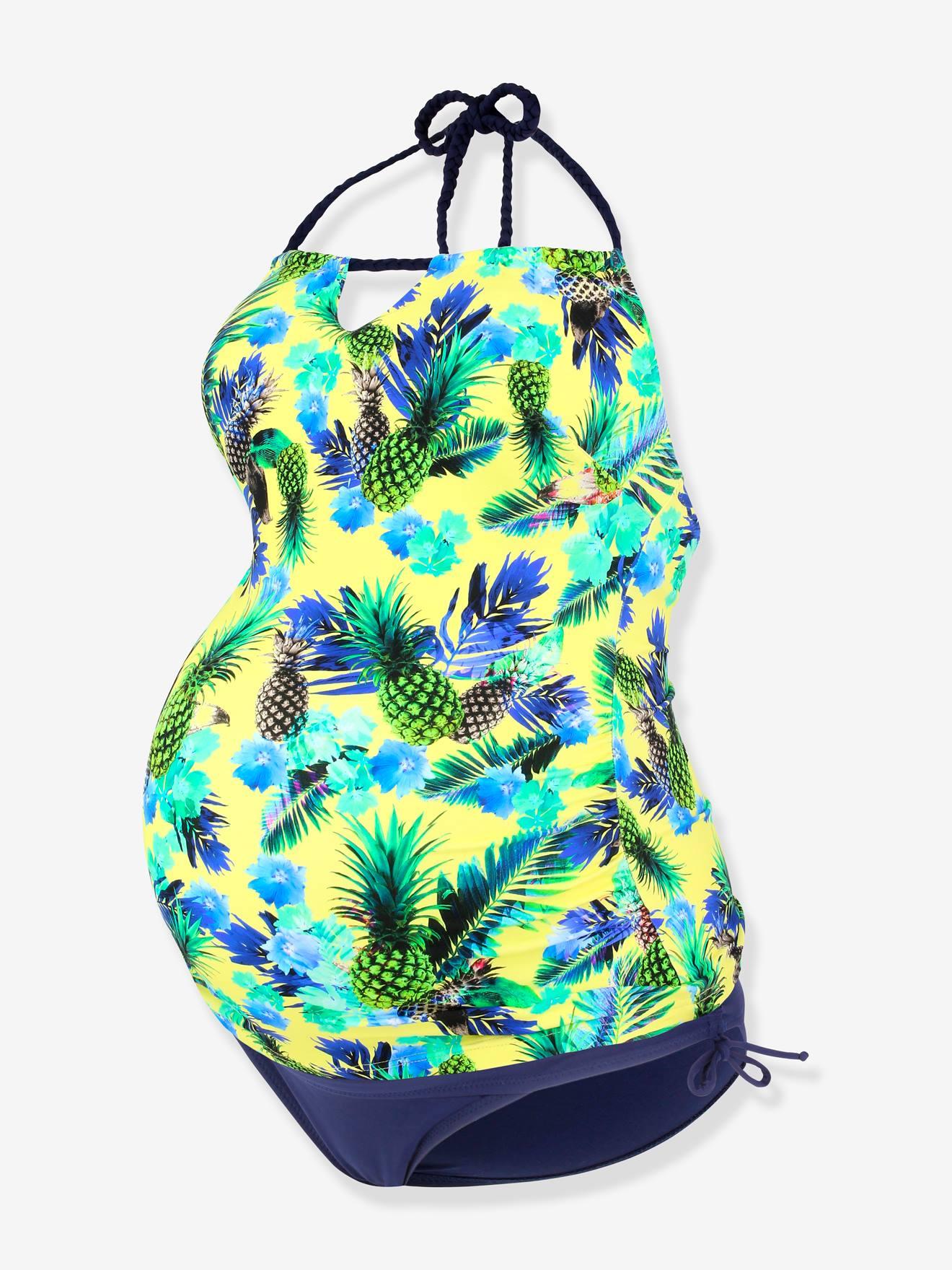 CACHE COEUR - Biquíni modelo tanquíni para grávida, Aloha da CACHE COEUR amarelo escuro estampado