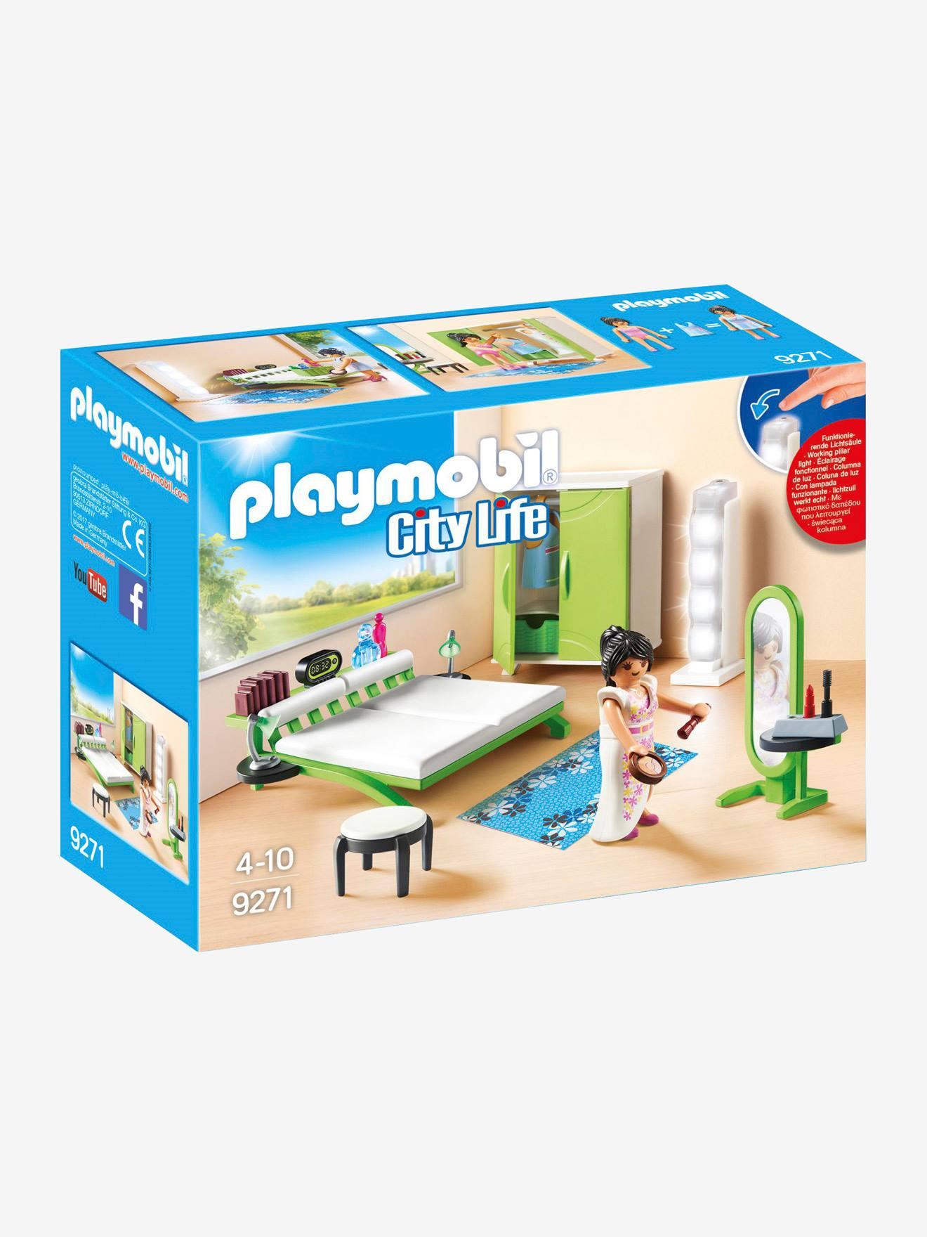 9271 Quarto da Playmobil verde medio liso com motivo