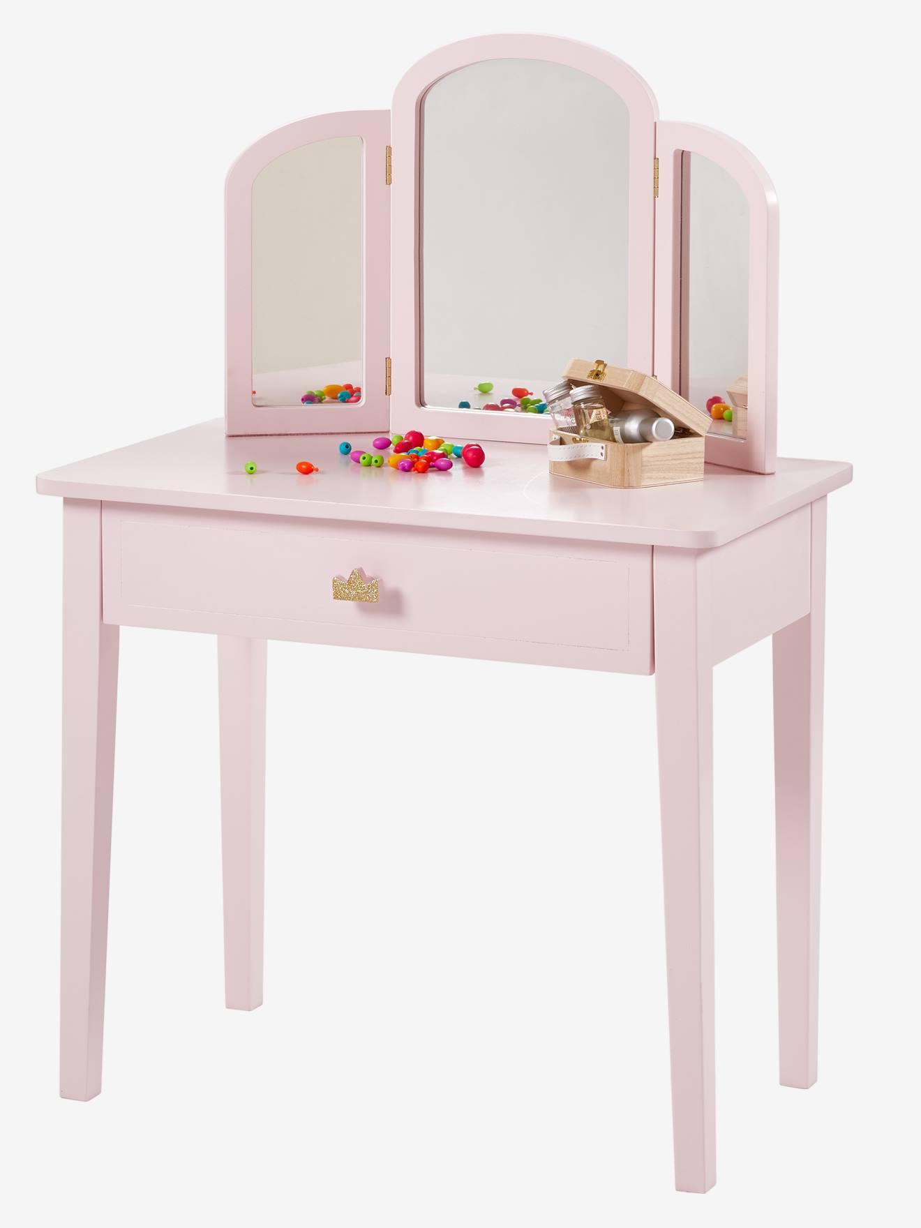 Toucador pequeno, Princesa rosa claro liso