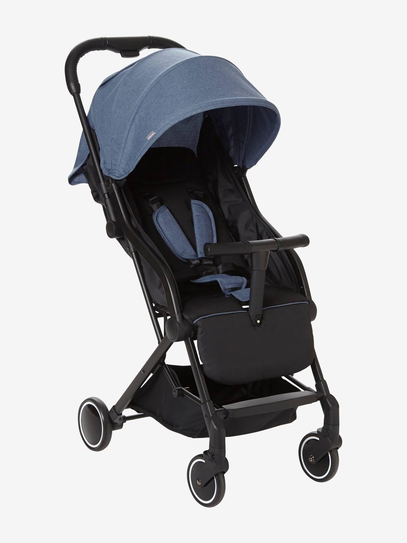 Carrinho de bebé citadino vertbaudet Microcity azul medio mesclado