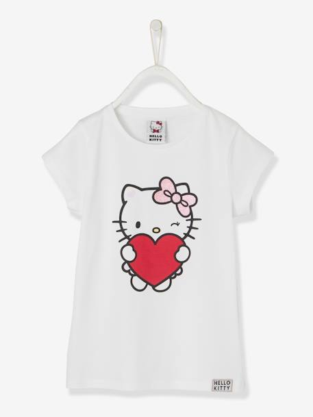 T-shirt Hello Kitty® estampada BRANCO CLARO LISO COM MOTIVO