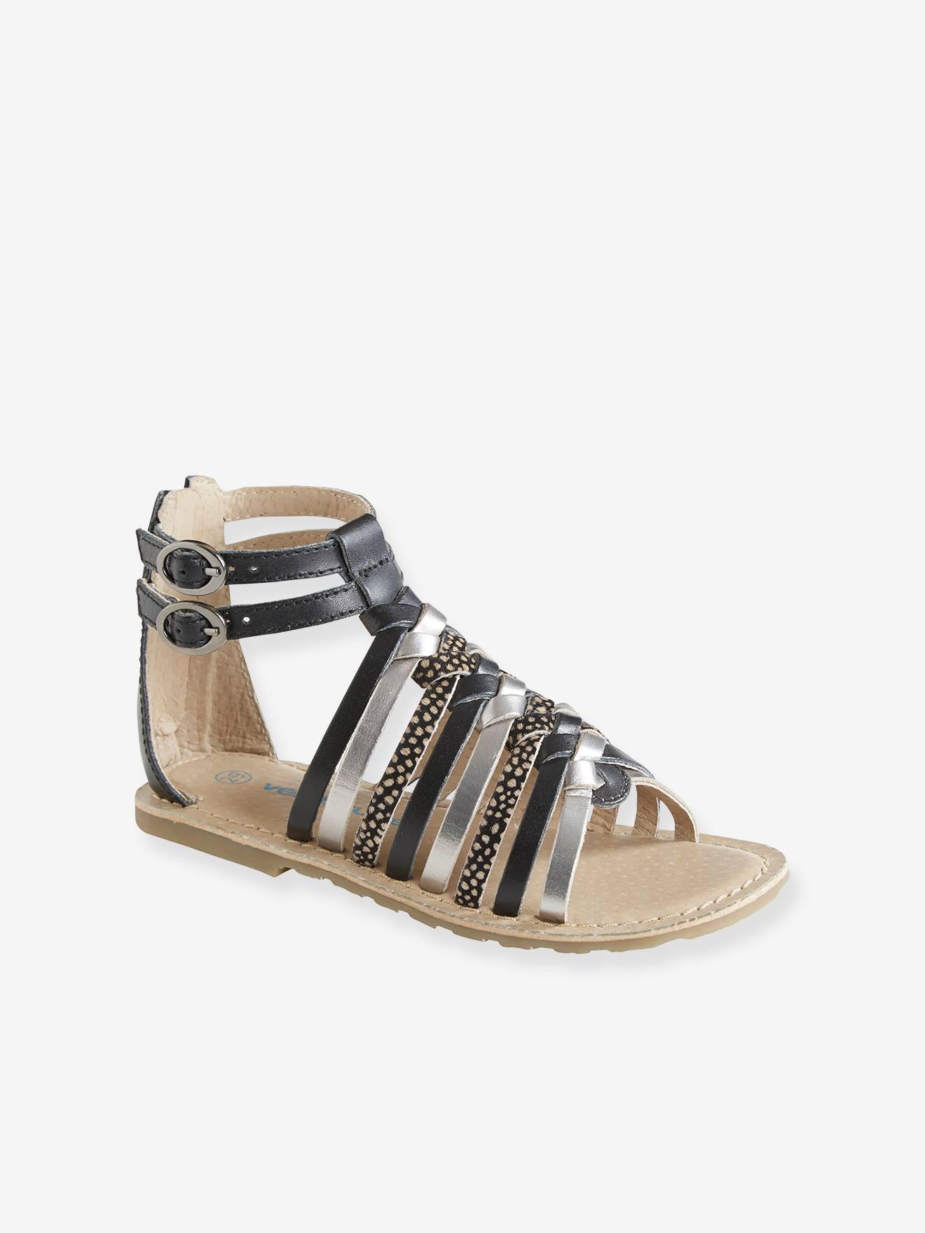 Sandálias em pele, para menina Calçado Vertbaudet   vertbaudet.pt