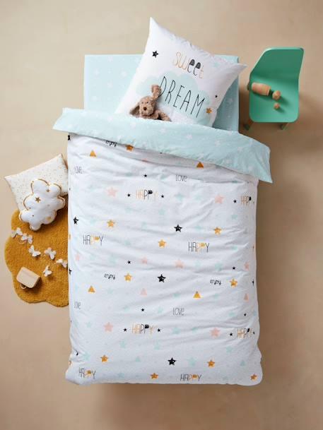 16a7a767e16eb6 Conjunto capa de edredon + fronha de almofada para criança, tema Happy  love-Têxtil-lar e Decoração-Vertbaudet | vertbaudet.pt