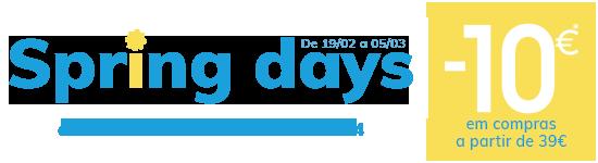 Spring days - 10€ em compras a partir de 39€*