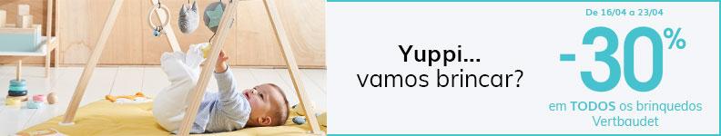 -30% em TODOS os brinquedos Vertbaudet