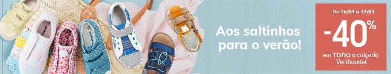 -40% em TODO o calçado Vertbaudet
