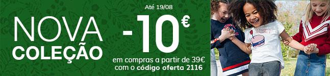 Nova Coleção -10€ em compras a partir de 39€