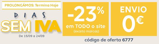 Prolongamento - Dias sem IVA -23% + envio 0€