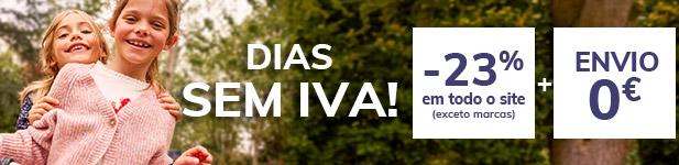 DIAS SEM IVA -23% em toda a seleção (exceto marcas) + Envio 0€